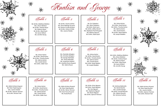 Wedding Seating Chart Printable, Rustic Guests List ...